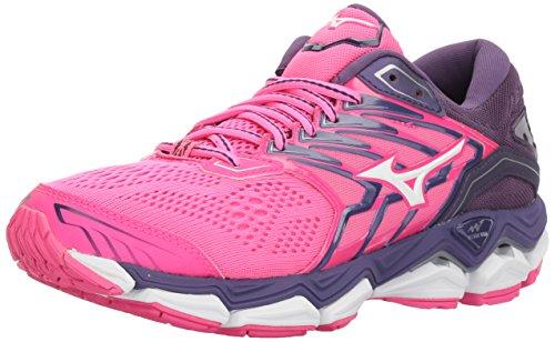 Mizuno Women's Wave Horizon 2 Running Shoe, Pink glo/White,...