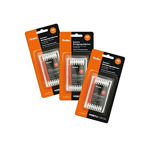 Rollei Kamera Reinigungsstäbchen - staub- und fusselfreie Baumwollstäbchen speziell zur Reinigung der Kamera - 48 Stück - weiß