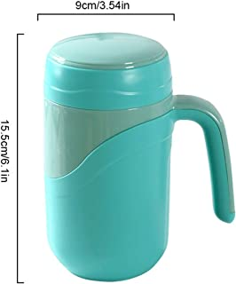 Ceramic Thermos Cup Vacuum Flask Cup Leakproof Insulated Thermos Bottle Mug Home Office Tea Cup Coffee Mug with Handle 380ml,Blue,380ml,Blue