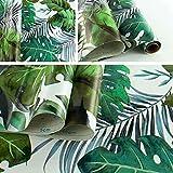 TIENDA EURASIA® Pack 2 Rollos Adhesivos para Muebles - Papel Adhesivo Estampados Modernos - 2 Rollos de 45 x 200 cm - 1,8 m² (Tropical 85)