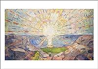ポスター ムンク『太陽』A3サイズ【返金保証有 日本製 上質】 [インテリア 壁紙用] 絵画 アート 壁紙ポスター