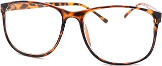 Tortoise Large Nerdy Thin Plastic Frame Clear Lens Eye Glasses Frame