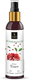 Good Vibes Pomegranate Glow Toner 120 ml, Anti Ageing Hydrating Light Weight Moisturizing Face Spray Toner for All Skin Ty...