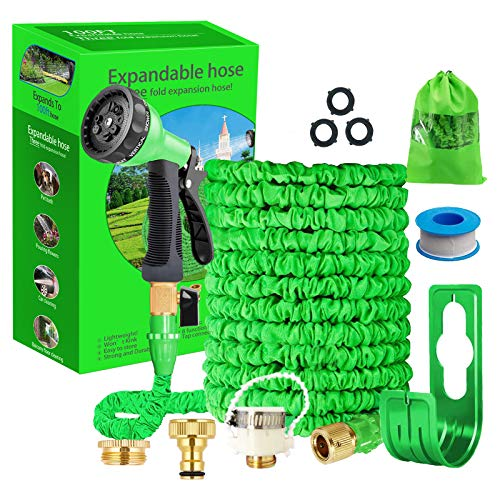 Running Bulls 100feet Expandable Garden Hose, Expanding hose pipes With...