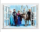 Kibi Stickers Infantiles Frozen Adhesivos Pared Decorativos Pegatinas De Pared Frozen Para La Habitación Niños Decoración De Pared Dormitorio Bebe Pegatinas De Pared Extraíble