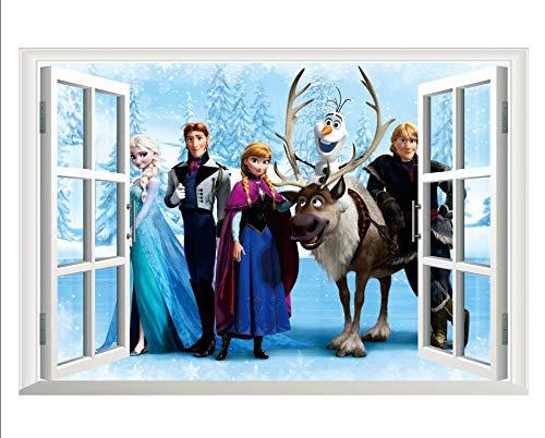 Kibi Wandtattoo Eiskönigin (Frozen) Wandsticker Frozen Disney für Kinderzimmer Living Room Removable Prinzessin Elsa Wandtattoo Kinderzimmer Frozen Olaf