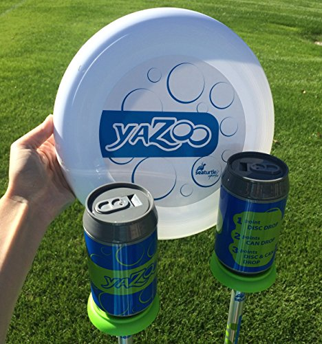 Seaturtle Sports Yazoo Bottle Beersbee Disc Toss Game with Soft Surface Spike