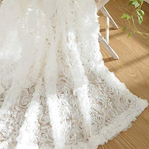 cortinas salon terciopelo blanco