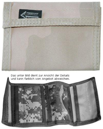 Portefeuille/porte-monnaie avec fermeture Velcro en Nylon en 3 Coloris Beige/Kaki désert