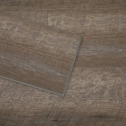 Diflart Lenox Estate Oak 23.6 sq.ft Vinyl Plank Flooring Click Locking 48x7 inch Lvt Flooring Waterproof Foam Back Rigid SPC Core Wood Grain Finish Pack of 10
