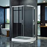 <span class='highlight'>ELEGANT</span> 1000 x 900mm Right Offset <span class='highlight'>Quadrant</span> <span class='highlight'>Shower</span> <span class='highlight'>Enclosure</span> 8mm Easy Clean Glass Sliding <span class='highlight'>Shower</span> Door w/Tray Waste Riser