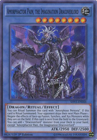 Yu-Gi-Oh! - Amorphactor Pain, the Imagination Dracoverlord (SHVI-EN044) - Shining Victories - 1st Edition - Super Rare