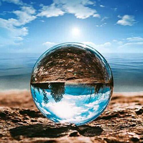CROSYO 1 unid Bola de Cristal, Cristal óptico esferas Reflectantes de Cristal k9 Esfera cristalina de la Bola de la Bola de la Bola, despejado Contacto malabareos (tamaño : 80mm)