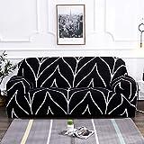 WXQY Funda de sofá elástica con Forma geométrica para Sala de Estar, Funda para sillón para Mascotas, Funda elástica para sofá de Esquina en Forma de L, combinación A6 2 plazas