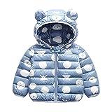 Bebé Chaqueta Invierno, Niños Niñas Abrigo con Capucha Traje de Nieve Manga Larga Outfits Calentar Warmer Regalos Ropa 1-2 años,Azul