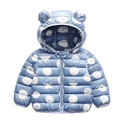 Bebé Chaqueta Invierno, Niños Niñas Abrigo con Capucha Traje de Nieve Manga Larga Outfits Calentar Warmer Regalos Ropa 3-4 años,Azul