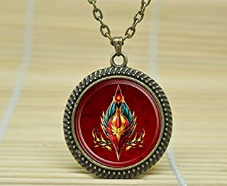SunShine Day Fashion Necklace Wow World Of Warcraft Necklace Blood Elf Crest Horde Jewelry Necklace Glass Cabochon Necklace A3130