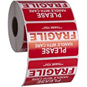 "Kenco 3"" X 2"" Fragile Handle with Care Warning Stickers for Shipping and Packing - 500 Permanent Adhesive Labels Per Roll"