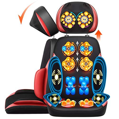 OCYE Shiatsu-Massagesitzauflage, Heizkissen für den gesamten Rücken, Knetmassage für Shiatsu oder Rollen, Massageauflage mit Höhenverstellung, Linderung von Muskelschmerzen