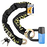 INTEKIN Motorcycle Chain Locks Bike Chain Lock 4FT Motorcycle Lock Heavy Duty Bike Lock Motorcycle Security Chain Lock Bicycle Lock with 0.64inch Disc Lock for Motorcycles, Bikes, and More.