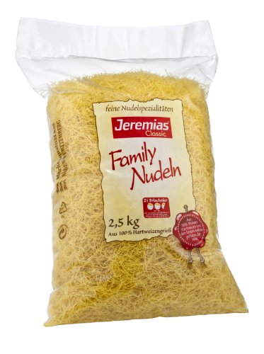 Jeremias Fadennudeln, Family Frischei-Nudeln, 1er Pack (1 x 2.5 kg Beutel)