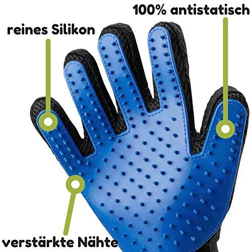 Kirando's Premium Fellpflege-Handschuh | besonders effiziente und schonende Tierhaar-Entfernung! | Reinigung, Pflege & Massage in einem Schritt für ihren Hund oder Katze! - 2