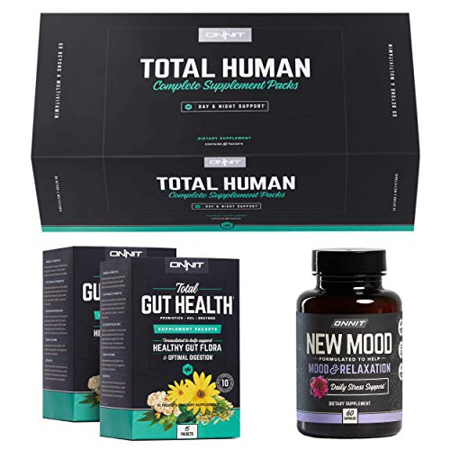 ONNIT Total Human + Total Gut Health + New Mood 60ct Stack