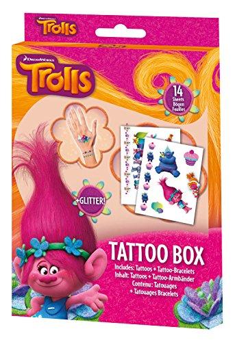 Craze Disney Soy Luna DreamWorks Trolls Tattoo Box 14 Bögen Kinder Klebe-Tattoos für Kinderparty...