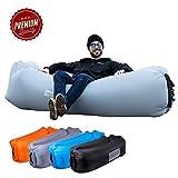 ORSEN Luft Sofa Couch, Wasserdichtes aufblasbares Sofa, Air Lounger mit Tragebeutel und integriertem Kissen für Indoor oder Outdoor (Blue-1)