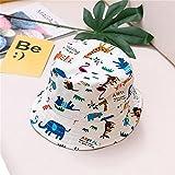 Sombrero para niños Gorra con Estampado de Verano para niños y niñas Gorros para el Sol para niños Sombreros para bebés de Dibujos Animados de 6 Meses a 8 años-Color animal-3-52cm 3-5 Years