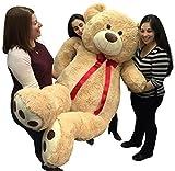 Big Plush Giant 6 Ft Teddy Bear 72 Inch Tan Soft Oversized Teddybear Weighs 22 Pounds