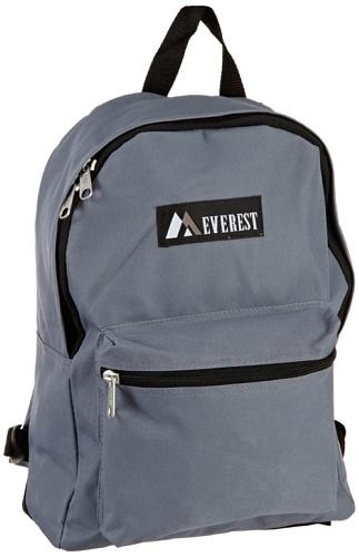 Everest Luggage Basic Backpack, Dark Gray, Medium