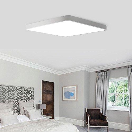 Warm Home Design Moderne led-plafondlamp ultradunne spaarlamp dimbaar afstandsbediening woonkamer slaapkamer 40x40x5cm [energieklasse A ]