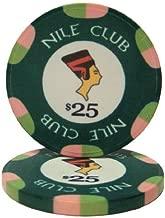 25 $25 Nile Club 10 Gram Ceramic Casino Quality Poker Chips