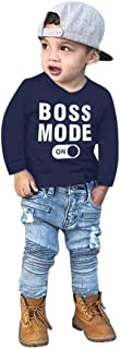 Kids Tops 2-7 Years Old,Baby Toddler Boys Autumn Winter Clothes Long Sleeve Letter Print T-Shirt Tees Outfit