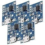 AZDelivery 5 x TP4056 Micro USB 5V 1A Contrôleur de Charge Lithium Li - Ion Module Chargeur de Batterie USB 5V 1A y compris un eBook