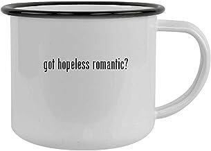 got hopeless romantic? - 12oz Camping Mug Stainless Steel, Black