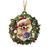 Adornos de madera para perro de Navidad, árbol de Navidad, colgante para colgar decoraciones para el que ama al perro mascota