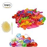 CXvwons Wasserbomben Ballons Wasser-Ballons Luftballons mit 960 Gummibänder und 8