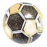 Fútbol Entretenimiento para niños Balón de fútbol PVC del Forro de Goma Tamaño 2 Fútbol Golden Adecuado para Juegos De Jardín (Color : Gold, Size : One Size)