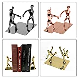 pu ran 1 para Mode Kreative Shiny Metall Kung Fu Mann Buchstütze Desktop Buch Steht Studie Home Office Bibliothek Schule