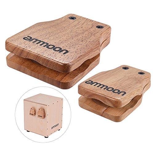 ammoon Cajon Box Drum Groot en Gemiddeld 2 Stuks Companion Accessoire Castagnetten voor Hand percussie-instrumenten