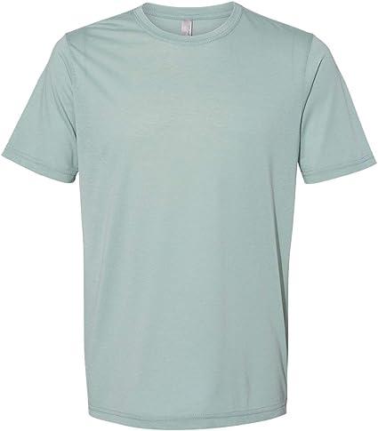 Next Level Camiseta básica de poliéster y algodón para hombre 6200