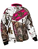 Castle X Launch Realtree G4 Womens Snowmobile Jacket - AP Snow/Hot Pink - MED