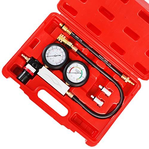 Engine Cylinder Test Pressure Gauge Tool for Automotive Gasoline Petrol Gas Engine Diagnostic Professional 8PCS Set for Car Truck Motorcycle Use N // A JIFETOR Compression Tester Kit 0-300PSI