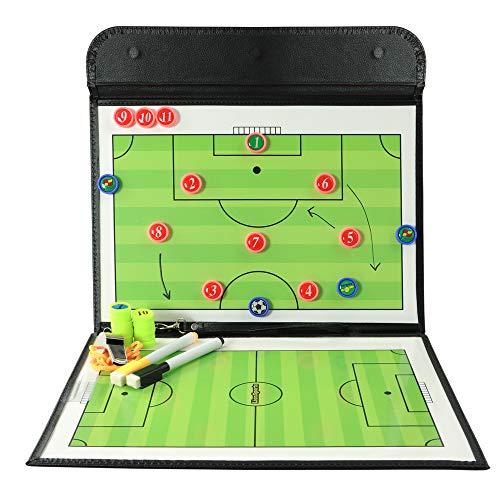 LionSports Profi Taktiktafel - Ideal für Taktiken und Spielanpassungen - Verbesserte Laufwege der Spieler mit diesem Trainingszubehör - Mit Geld zurück Garantie - 90 Tage testen