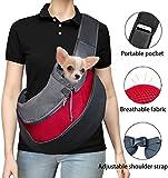 Mochila para perros y gatos, mochila de viaje al aire libre para conejos, mochila para perros de hasta 5 kg (talla L, roja).