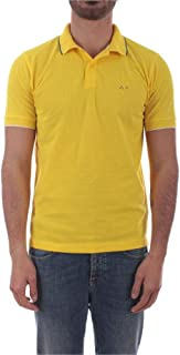 SUN 68 Luxury Fashion Mens A3010623 Yellow Polo Shirt |