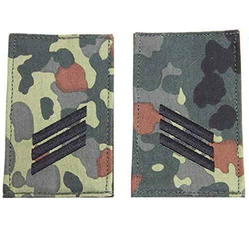 Unbekannt Rangabzeichen mit Klett flecktarn mit schwarzem Stick Hauptgefreiter