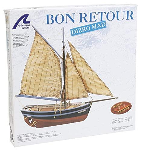 Artesanía Latina 19007. Maqueta de Barco en Madera Bon Retour 1/25